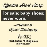 flash fiction writing class; injoyinc.com