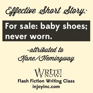 flash fiction class; injoyinc.com
